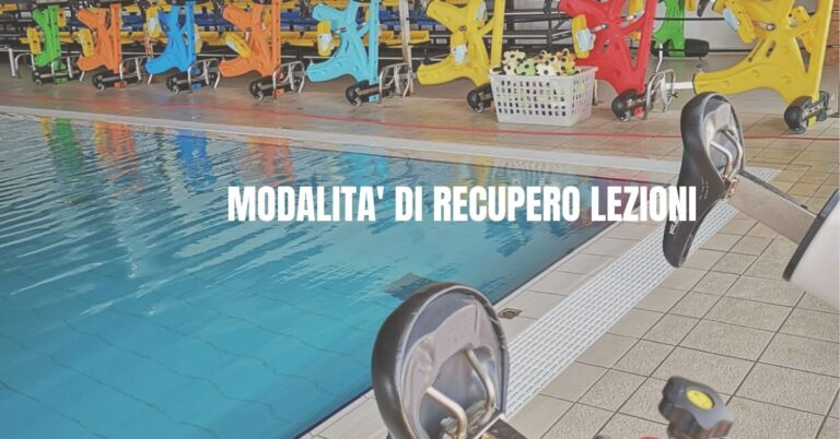 recupero lezioni piscina meridiana